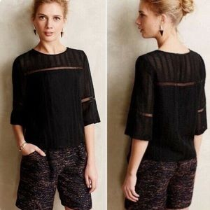 Anthropologie HD Paris Tracery black top
